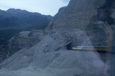 Alaska RR Train Entering Tunnel