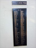 Image for Boer War Honour Roll - Wagga Wagga, NSW, Australia