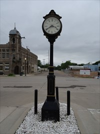 Looking north from the south side of the clock.