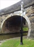 Image for Ted Kevaney Canal Fingerpost - Marple, UK