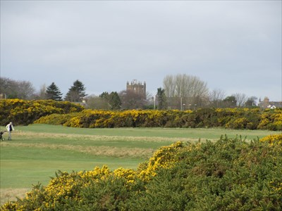 Viewed from the golf links near the coast.