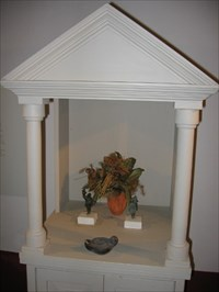 The lararium was a shrine to the guardian spirits of the Roman household. Family members performed daily rituals at this shrine to guarantee the protection of these domestic spirits, the most significant of which were the lares. 