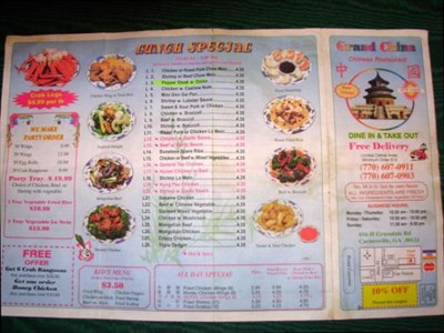 Chinese Food Delivery Cartersville Ga