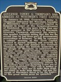 Image for Governor Tommy G. Thompson's 1998 Address at Wisconsin's First Capitol - Belmont, WI