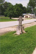 Image for Wooden Cross - St. Mary's Catholic Church - Hawk Point, MO