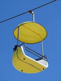 Sky Glider, Yellow Gondola, Santa Cruz, California
