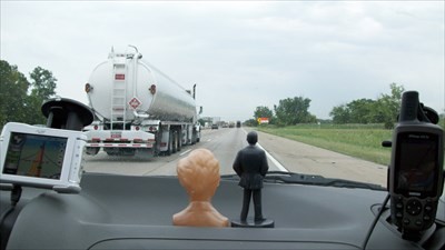 Abraham Lincoln and Henry Ford enjoying the view on our roadtrip.