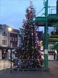 Image for Longton Exchange Christmas Tree - Longton, Stoke-on-Trent, Staffordshire, England, UK.