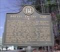 Image for Battle of Dug Gap - GHM 155-10 - Whitfield Co., GA