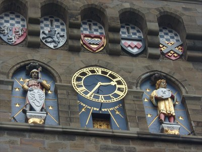 Clock Tower Statues - Mars - Cardiff Castle,