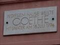 Image for Johann Wolfgang von Goethe - Goethehaus - Bendorf, RP, Germany