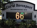 Image for City of Davenport - Time & Temperature Sign - Davenport, Florida