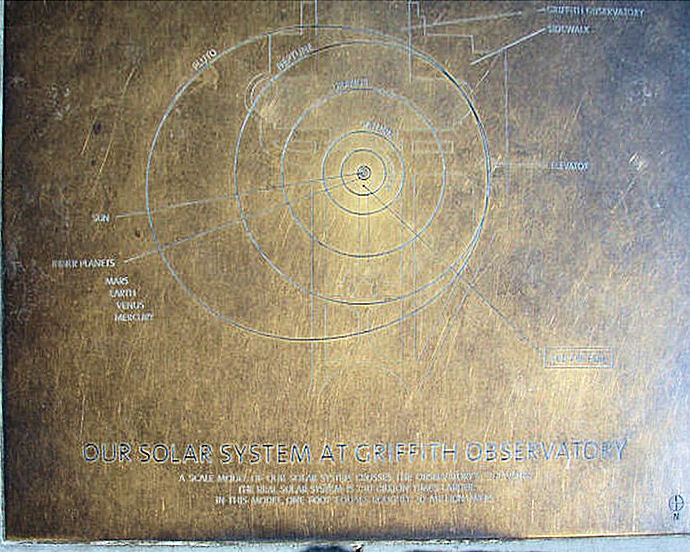 Solar System at Griffith Observatory - Los Angeles, CA ...