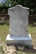 Image for EARLIEST Marked Grave in Hagansport Cemetery - Hagansport, TX