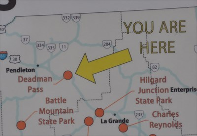 Deadman Pass Rest Area Oregon Travel Kiosk You Are Here Maps on