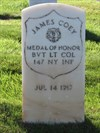 James Coey, Medal of Honor, San Francisco National Cemetery