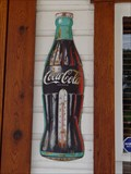 Image for Coco Cola Bottle Sign - Vintage Texaco Station - Delta, Ohio