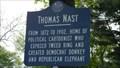Image for Thomas Nast - NJ Historical Marker