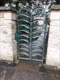 Image for Ornate leaf design gate, Millbank Road - Darlington, England.
