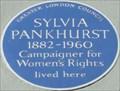 Image for Sylvia Pankhurst - Cheyne Walk, London, UK