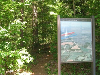 A short trail leads to the knoll where Grant set up a command post with Meade.