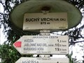 Image for Elevation Sign - Suchy vrch, Czech Republic. 975 m