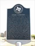 Image for Cedar Cemetery