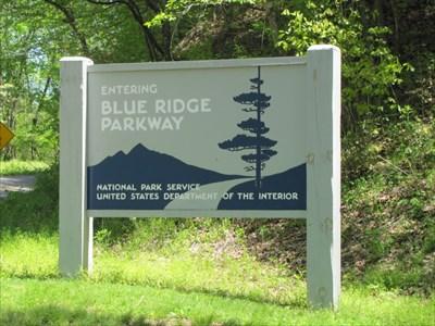 Blue Ridge Parkway Sign, North Carolina