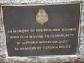 Image for Police Memorial, Moe RSL, Vic, Australia