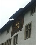 Image for Clock at the Town Hall - Baden, AG, Switzerland