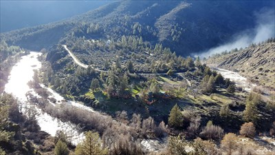 View of Shasta River below and Old Stage Road