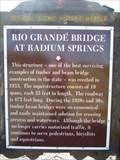 Image for Rio Grandé Bridge at Radium Springs