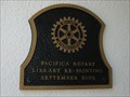 Image for Pacifica Sanchez Library Rotary Plaque  - Pacifica, CA
