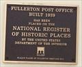 Image for Fullerton Post Office - 1939 - Fullerton, CA