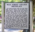 Image for Wake Forest College Birthplace H-75