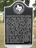 Image for Samuel Willis Tucker Lanham