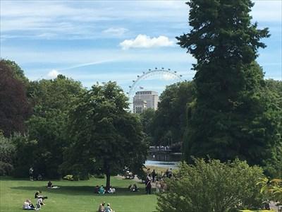 Pour varier un peu, cette superbe grande roue vue du parc