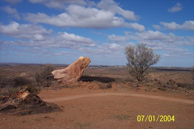 Broken Hill can be seen in the background of this shot.