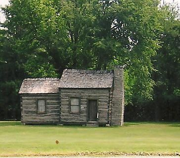 log cabin referred to in text