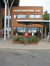 Shy74 :o) devant la halte routière de Saint-Nicolas... : )