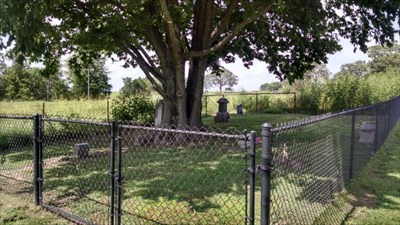 Burnett Cemetery, mowed and newly fenced, by MountainWoods.  What a far cry from the days when one could not see the cemetery even in the winter!