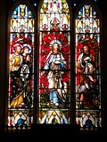 Image for The Good Shepard - Stained Glass - Church of St Peter - Cockett - Wales. Great Britain.