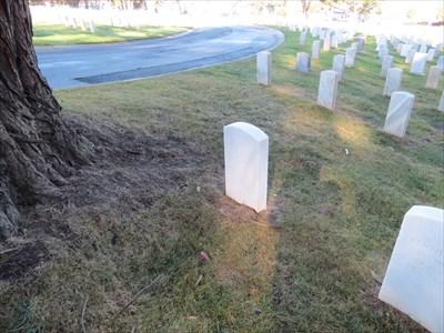 William F. Dean, backside, Setting Near Tree, San Francisco National Cemetery