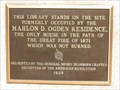 Image for Mahlon D. Ogden Residence marker - Great Chicago Fire of 1871,Chicago, IL
