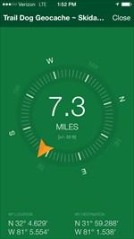 Screenshot of coordinates (bottom right) on ground speak app.