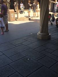 Disc Viewed Looking NE from Disneyland Sleeping Beauty Castle