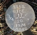 Image for T15S R10E S17 20 1/4 COR - Deschutes County, OR