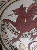Image for Dragon Mosaic - Old Town Hall - Merthyr Tydfil, Wales, Great Britain.