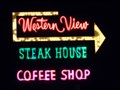 Image for Western View - Neon Sign - Albuquerque, New Mexico, USA.