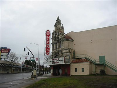 Here is a daylight image of the theatre.  (Our prevous photo's both cut off the high spire.)  What a beautiful landmark in this great neighborhood.